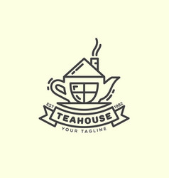 Tea house logo vector