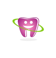 teeth dental smile beauty logo vector image