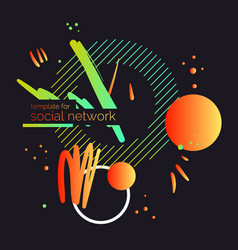 template for social network modern poster vector image