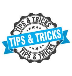 Tips tricks stamp sign seal vector