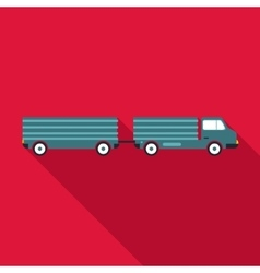 Trailer icon flat style vector