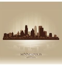 Minneapolis Minnesota skyline city silhouette vector image
