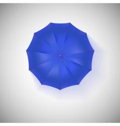 Opened blue umbrella top view closeup vector image