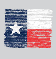Wooden grunge texas flag vector