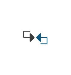 arrow exchange logo vector image vector image
