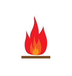 fire sign 1103 vector image