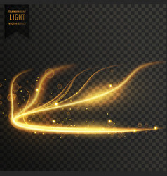 glowing golden transparent light effect background vector image vector image