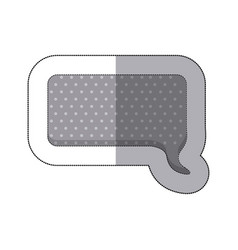 gray squard chat bubble icon vector image vector image