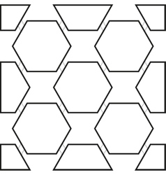 Seamless pattern with black hexagons vector image vector image