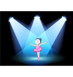 A little girl dancing ballet with spotlights vector image vector image