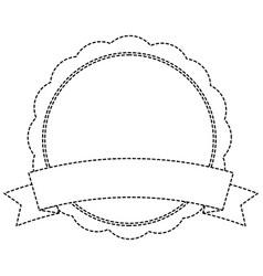 badge emblem banner ribbon empty vector image