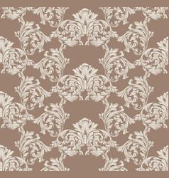 baroque pattern decor for invitation wedding vector image vector image