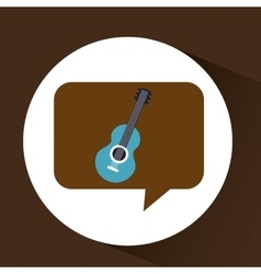 blue guitar vintage background icon vector image