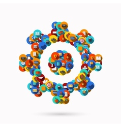creative mechanism icon background vector image vector image