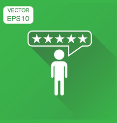 customer reviews rating user feedback icon vector image
