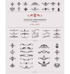 Hand Drawn Damask Elements vector image vector image