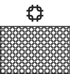 Lattice geometric pattern swatch vector image