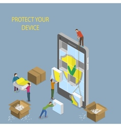 Mobile Device Protection Concept vector image vector image