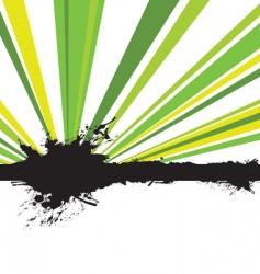 splash rays vector image vector image