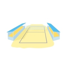 Stadium for volleyball icon cartoon style vector