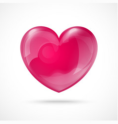 Glossy Red Heart Valentines Day Background vector image vector image