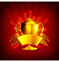 Golden Prize Background vector image vector image