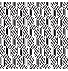 light cube pattern background black white vector image