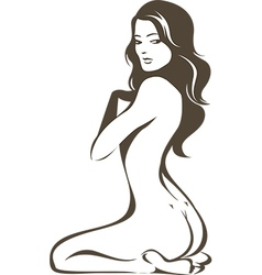 Nude female figure vector image