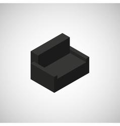 Sofa icon design vector image vector image