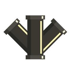 tee plumbing fitting icon flat style vector image vector image
