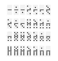 white domino bones vector image