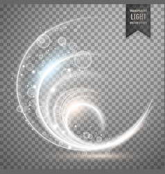 white transparent light effect background vector image vector image