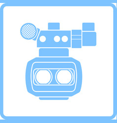 3d movie camera icon vector