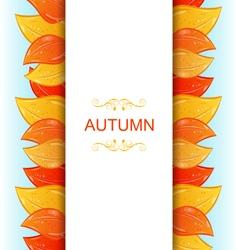 Abstract Autumn Invitation vector