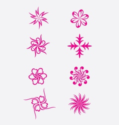 Abstract flower vector
