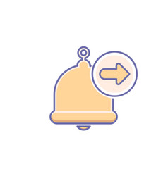 Alarm alert arrow bell icon call vector