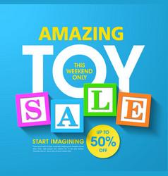 Amazing toy sale banner vector