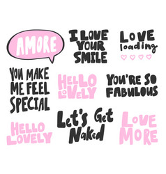 Amore love smile naked special lovely hello vector