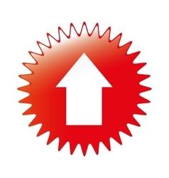 Arrow emblem icon image vector