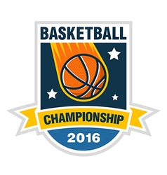 Basketball championship tournament team logo vector
