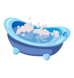 Bath for baby icon cartoon style vector