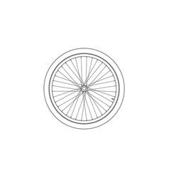 bicycle wheel flat icon vector image
