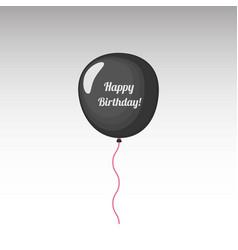 black birthday balloon vector image
