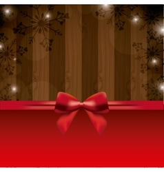 Bowtie and wood icon Merry Christmas design vector