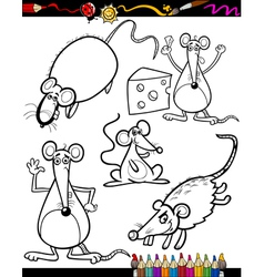 Cartoon Rodents for Coloring Book vector image