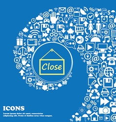 Close icon sign Nice set of beautiful icons vector