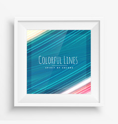 Colorful paint strokes lines vector