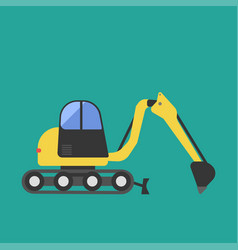 construction tractor transportation vehicle mover vector image