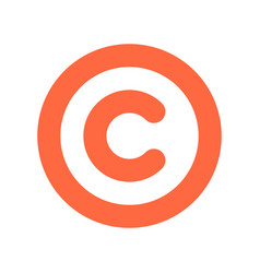 copyright symbol or sign flat icon vector image