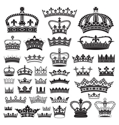 CROWNS Antique and decorative vector image